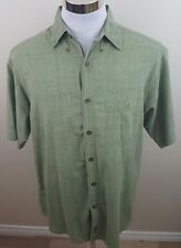 Woolrich Large green short sleeve button up 100% cotton