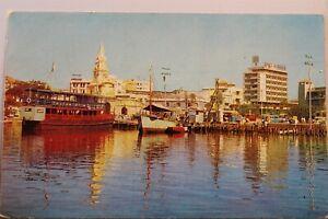 Colombia Cartagena La Puerta Del Reloj Las Animas Bay Bahia Postcard Old Vintage