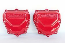 CONTINENTAL Engine Rocker Valve Cover PAIR OEM RED GLOSS Powder Coat Part 625615