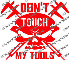 Machinist,Millwright,Dont Touch My Tools,CNC,Calipers,Skull,Sticker,Vinyl Decal