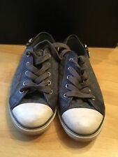 Ladies Size 6 Aldo Sneakers Converse Trainers Grey Jersey
