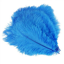 20 x natural ostrich feather 25-30cm blue decoration festivities F6