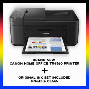 Canon Home Office TR4560 Multifunction Wi-Fi Printer+FAX+ADF + STARTER INK SET