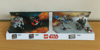 Lego Star Wars Shop Display 75193, 75194, 75195 Missing Cover Rare!