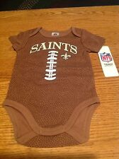 New Orleans Saints NFL Baby Football Bodysuit, 3 - 6 Months, New With Tags