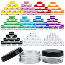 50 Jars 5 Gram 5ml  Acrylic Plastic Jar Sample Containers BPA FREE