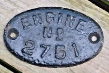 Rare Antique Steam Traction Engine Cast Iron Number Plate Advanced Rumley Case