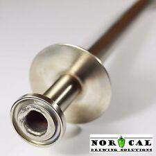 Jaybird 304 Stainless Steel TRI CLOVER DIP TUBE for Speidel Plastic Fermenter