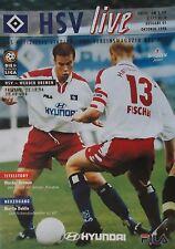 Programm 1998/99 HSV Hamburger SV - Werder Bremen