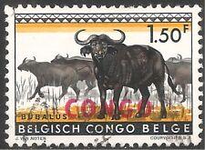 Congo Stamp - Scott #346/A93 1.50fr Black & Orange Yellow Canc/LH 1960