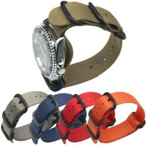 Military Canvas Watch Bands Black Nylon Strap No Need For Tools Disassembly