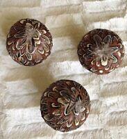 "Genuine Pheasant Feather Ornamental Balls (3) Large 80 mm (3 ¼"")"