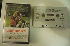 JANIS JOPLIN . K7 AUDIO TAPE CASSETTE. JANIS JOPLIN'S GREATEST HITS.