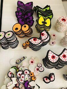 """Halloween """"Spooky Eyes"""" 500 Foam Stickers Great for Halloween"""