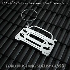 Ford Mustang Shelby GT350 Stainless Steel Keychain