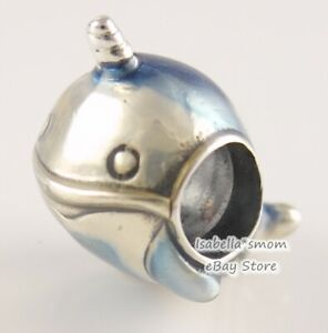 SHIMMERING NARWHAL Authentic PANDORA Blue Enamel WHALE Charm 798965C01 w POUCH