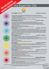 Chakra Reference Poster Guide Chart 100% Pure Essential Oil Aromatherapy Ra Oils