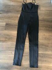 Asos Denim Black Strappy Cat Suit Size 10