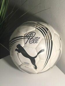 Pele puma signed soccer ball Steiner COA
