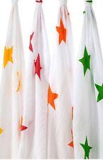 Aden + Anais Swaddle Super Colore Star Maxi-LANGE mussola cotone coperte Quattro