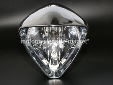 "6"" Plated Cobra Headlight For Honda Magna 250 Steed VLX400 VLX600 Shadow VT750"