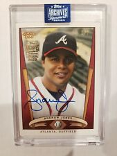 2020 TOPPS ARCHIVES SIGNATURE ANDRUW JONES ON CARD AUTO 2/7 ATLANTA BRAVES