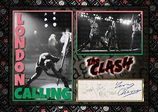More details for the clash - punk rock - original a4 photo print memorabilia