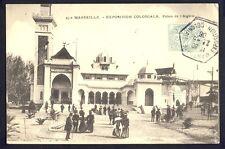 cpa Cachet EXPO COLONIALE 1906 MARSEILLE Palais de l'ALGERIE