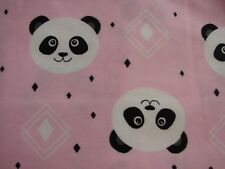 Flannelette Fitted  Owls & Bunnies Pink Cot Sheet Handmade
