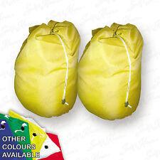 2 Yellow Jumbo Storage Bag Laundry Bags sack Reusable Large Strong Draw string