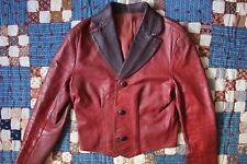 VINTAGE 1970s Glasswater Leather Jacket 2tone