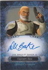 2016 Topps Star Wars Masterwork Dee Bradley Baker Captain Rex Autograph