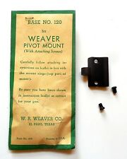 Weaver Pivot Scope Mount/Base #120 For Weatherby Mark V New Old Stock