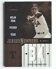 Nolan Ryan 2003 Leaf Limited Jersey Numbers Game Used #76/100 Texas Rangers