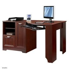 NEW Corner Computer Desk (L-shaped Home Office laptop), Cherry, Free Delivery