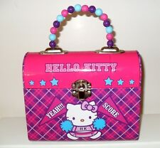 Tin Box Company Sanrio Hello Kitty Collectable Lunchbox Purse Tin Beaded Handle
