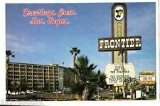 Frontier closed Las Vegas Hotel Casino postcard UNUSED mirro krome Fabian gone O