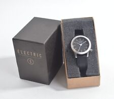 NIB MENS ELECTRIC FWO3 LEATHER WATCH $225 black cream custom tanned leather band