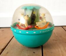 Vintage Fisher Price Roly Poly Chime Ball 1972 Baby Toy Chiming 165