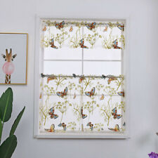 Butterfly Flower Tulle Voile Curtain Valance Kitchen Cafe Balcony Window Drape