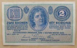 Austria banknote 2 kronen dated 1914