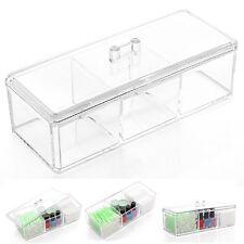 Transparent Women Cosmetic Tissue Swab Perfume Bottle Storage Organizer Case Box