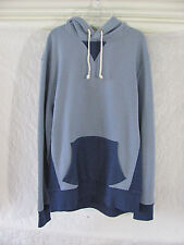 J. Crew Authentic Fleece Hoodie Pullover Sweatshirt- Blue Color Block-Large $79