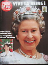 POINT DE VUE N° 2290 REINE ELISABETH II EN FRANCE CHATEAU DE SASSY 1992