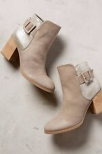 ANTHROPOLOGIE MARGOT BOOTIES SEYCHELLES SHOES GRAY ANKLE BOOTS $150 10