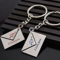 Hot Sale Lovers gift keychain couple Love Lettering key chain One Pair Key Ring