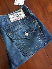 TRUE RELIGION BRAND  THE STRAIGHT WFFP BROWN GOLD SN  MEN'S JEANS $  ( W34) $225