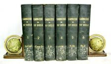 Larousse Du XXe Siecle Six Volumes Complete 1928-33 Paul Auge Fully Illustrated
