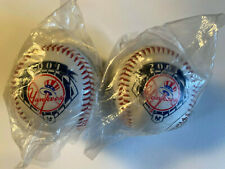(2) New York Yankees 2001 Signature Souvenir Baseballs, Sealed Mint Condition