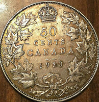 1913 CANADA SILVER 50 CENTS - Excellent example!